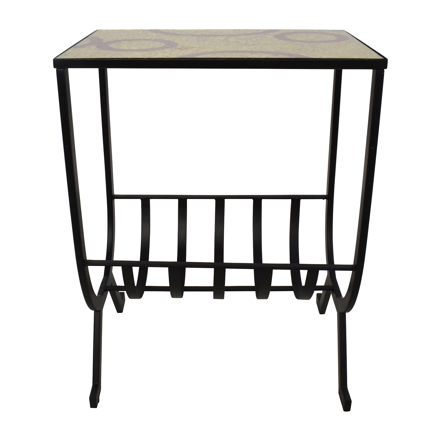 off pier mosaic magazine accent table tables outdoor end tall narrow coffee wicker with glass top west elm morten lamp nesting dining and chairs vintage metal two door cabinet