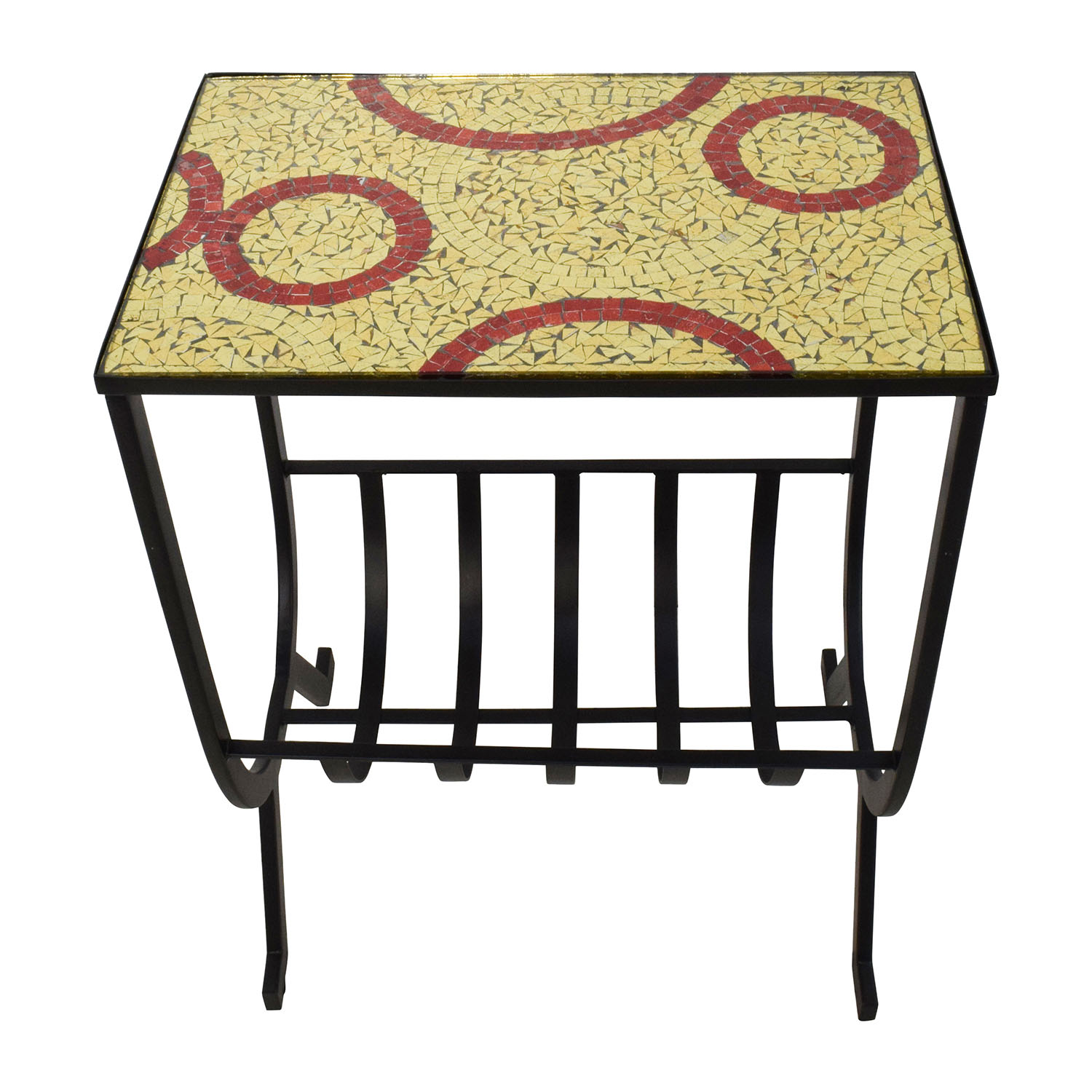off pier mosaic magazine accent table tables used one outdoor end coupon thin side small mirrored gold wood coffee round extension dining newport pet crate room chair covers argos