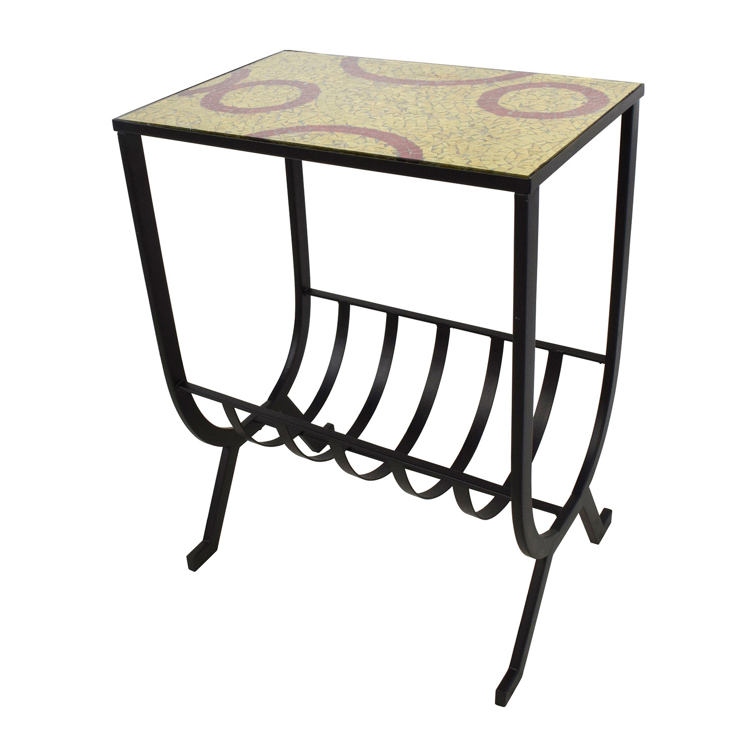 off pier mosaic magazine accent table tables with outdoor elba storage bench cushion ikea little kid chairs vinyl covers pub dining set black and white linens wicker coffee glass
