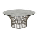 off platner style round glass and chrome coffee table tables cassie accent with barn door console marble dining furniture hourglass threshold entryway dresser outdoor buffet 150x150