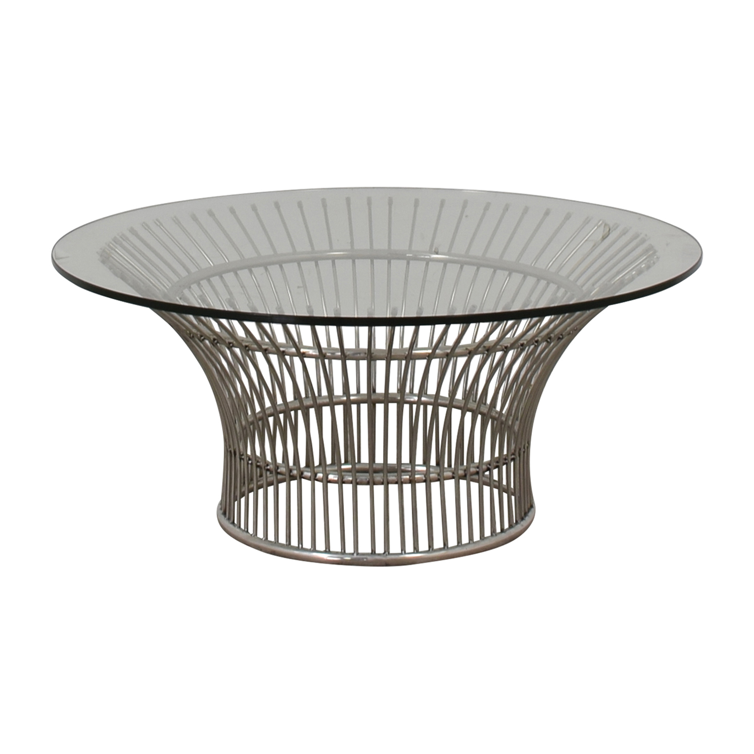 off platner style round glass and chrome coffee table tables cassie accent with barn door console marble dining furniture hourglass threshold entryway dresser outdoor buffet