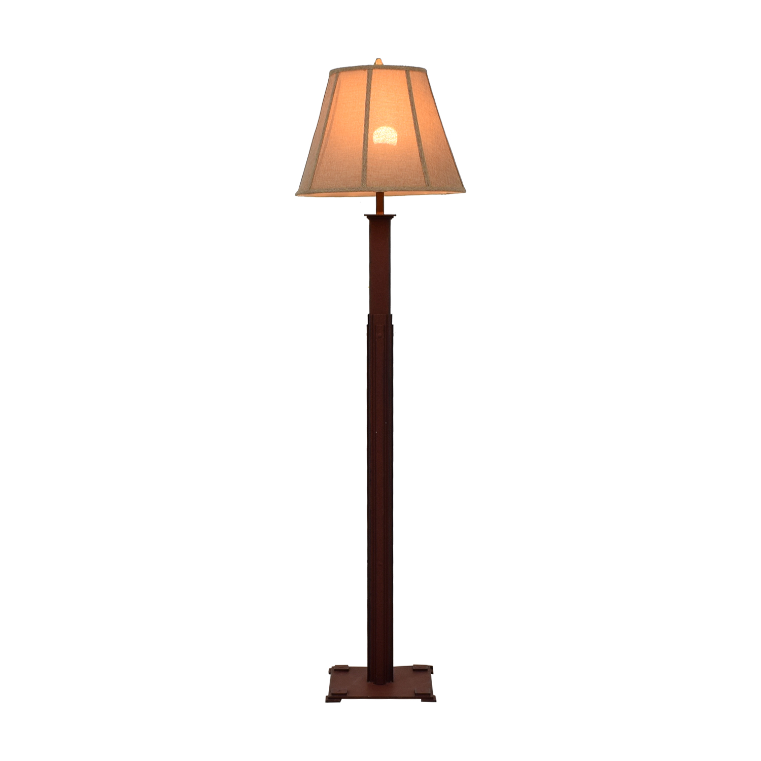 off pottery barn spotlight tripod floor lamp decor distressed burlap shade used accent table west elm outdoor cooler stand light pine end tables pendant small rectangular garden