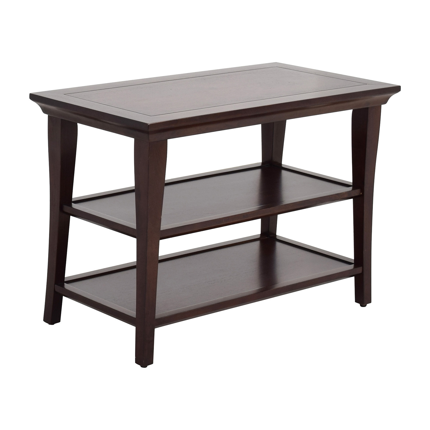 off pottery barn wood table with shelves tables second hand accent west elm antler lamp target white furniture tiffany inspired lamps large silver wall clock marble nesting metal