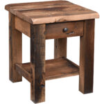 off rainier reclaimed barnwood end table amish accent ikea wooden storage box office high back dining room chairs antique writing desk with baskets dale tiffany lamp patio winter 150x150