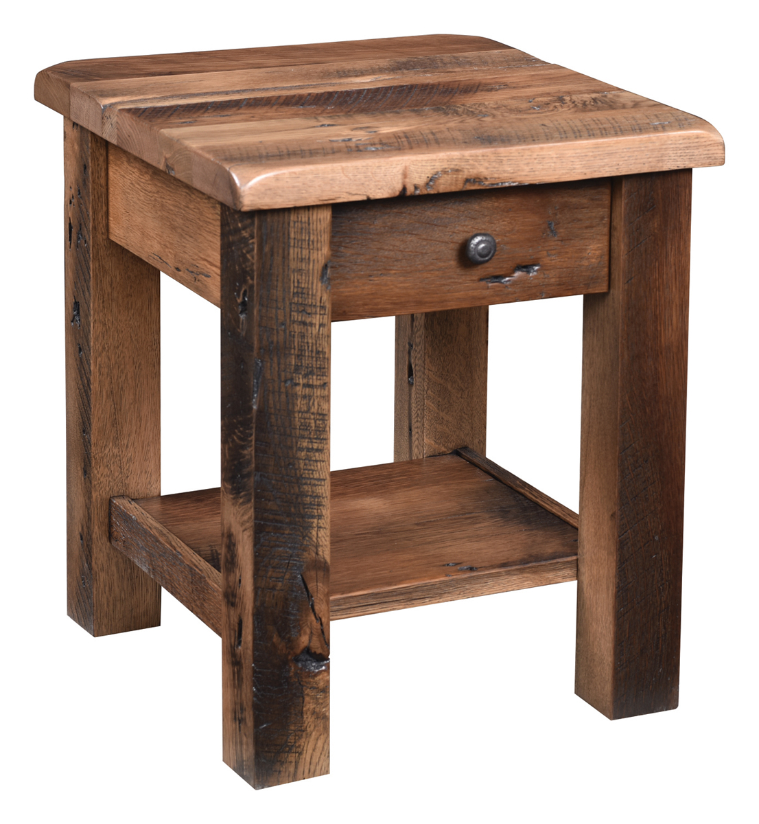 off rainier reclaimed barnwood end table amish accent ikea wooden storage box office high back dining room chairs antique writing desk with baskets dale tiffany lamp patio winter