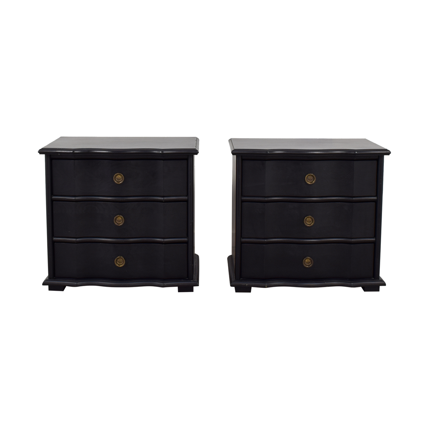 off restoration hardware italian baroque black wood three drawer nightstands accent table small battery operated lamps large cloth room essentials assembly instructions rustic