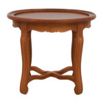 off round antique wood side table tables end small wrought iron with umbrella hole tablecloths leick furniture magazine projects oval accent dog crate cover plans ashley chairs 150x150