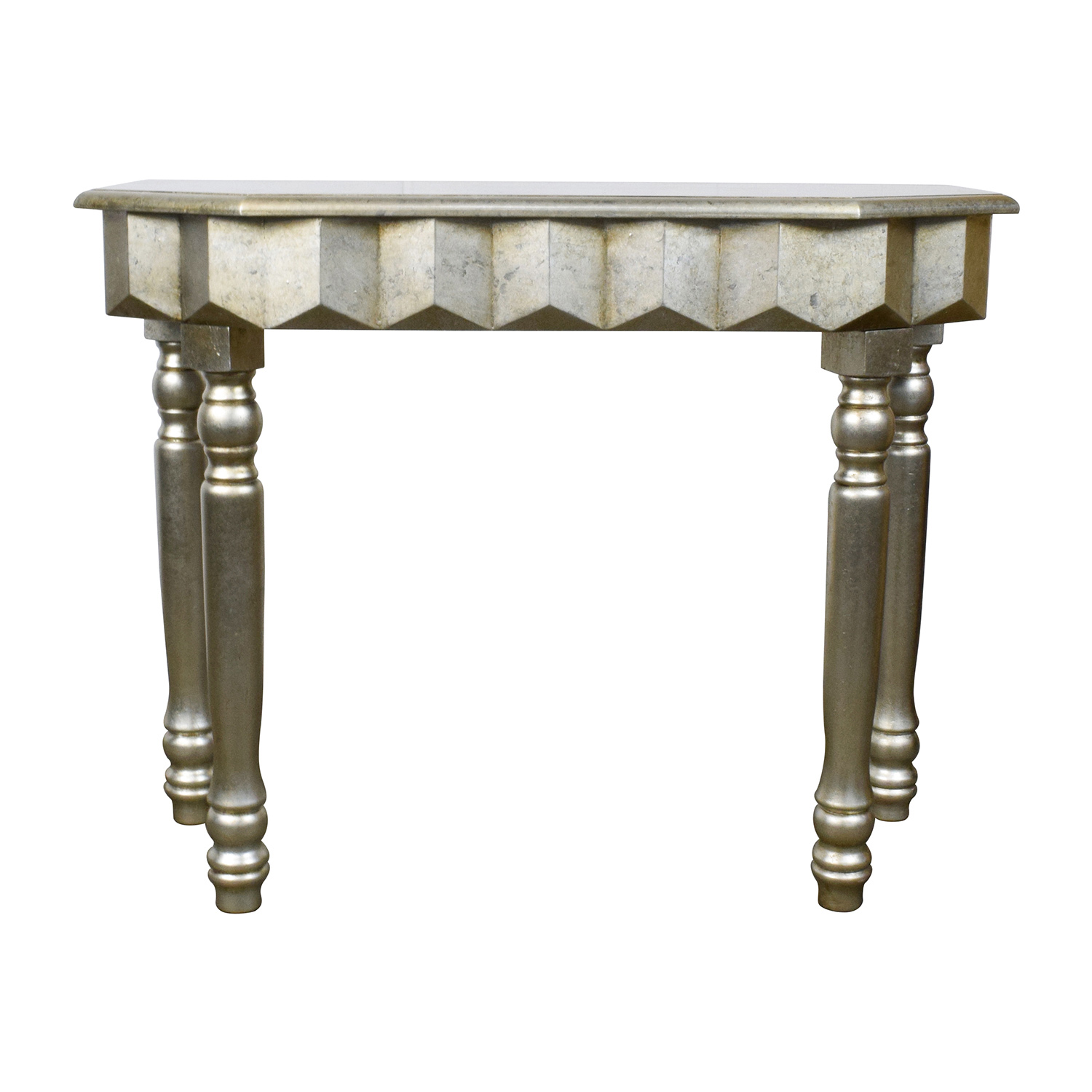 off rustic gold metallic console table tables second hand accent curved patio umbrella behind couch circular cover rose side narrow black end drummer stool with backrest square