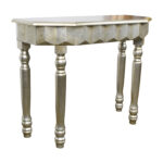 off rustic gold metallic console table tables used accent round patio cover drummer stool with backrest retro couch small screw legs light floor lamp funky end elegant placemats 150x150