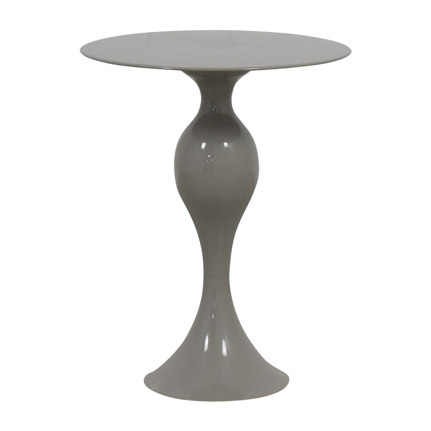 off west elm gray round end table tables accent legs for red and black green tablecloth bourse slim mirrored bedside trestle pine dining pedestal base only homesense patio