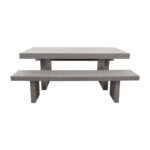 off west elm quarry gray rectangle dining table and benches second hand accent tables best home decor items copper accessories lamps that use batteries placemats small black 150x150