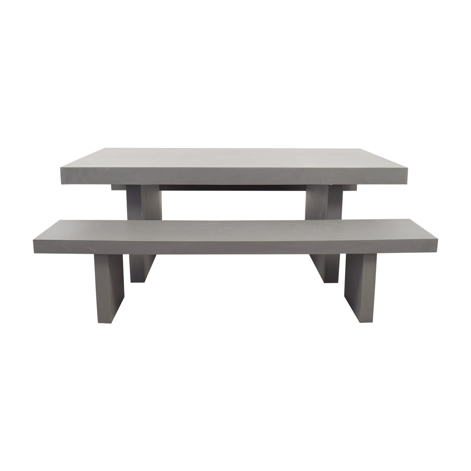 off west elm quarry gray rectangle dining table and benches second hand accent tables best home decor items copper accessories lamps that use batteries placemats small black