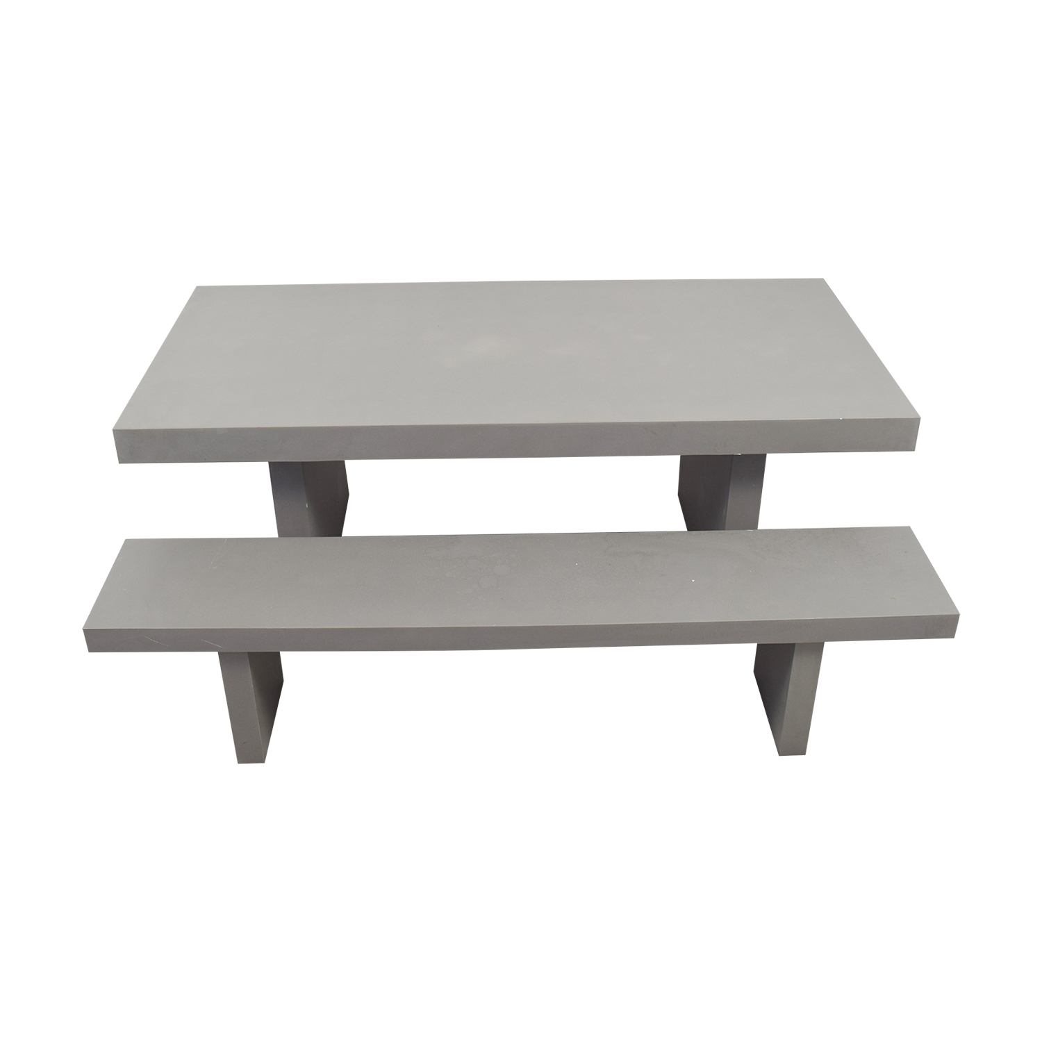 off west elm quarry gray rectangle dining table and second hand benches accent for marble black coffee best home decor items shelby chest bath beyond gift registry unusual living