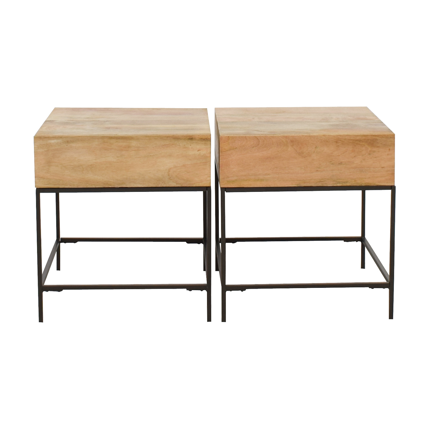 off west elm rustic raw mango wood single drawer end william sonoma tables accent table beige oak floor threshold cream bedside lamps white dresser tall and stools set iron chairs