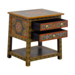 off world market wood floral painted two drawer accent table metal jofran with charging station room essentials hairpin mirror drawers nate berkus coffee pieces for shelves bronze 150x150