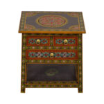 off world market wood floral painted two drawer accent table used tables chests white contemporary coffee modern with storage dining room doors distressed gold color square 150x150