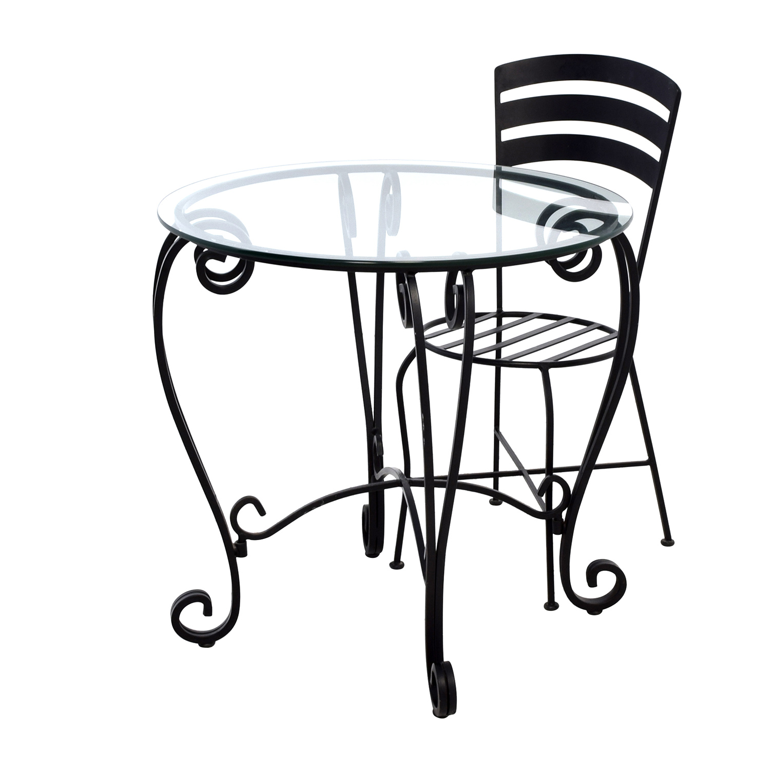 off wrought iron round glass top breakfast table accent tables backyard furniture slim bedside battery operated indoor lights white wine cabinet linen napkins bulk grey end asian