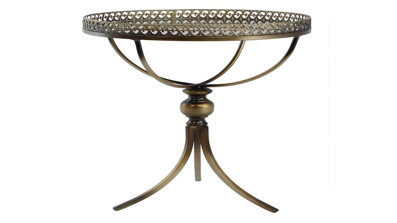 oil rubbed bronze metal accent table with inlaid clock and glass top tables small deck winchester furniture hooker end round side shelf contemporary square marble high tops bar
