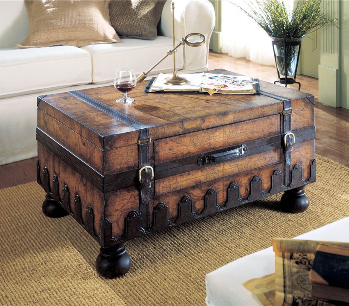 old trunks turned into beautiful vintage table sarah accent trunk contemporary home decor tray end metal frame coffee with wood top large gazebo target wine rack grey wicker
