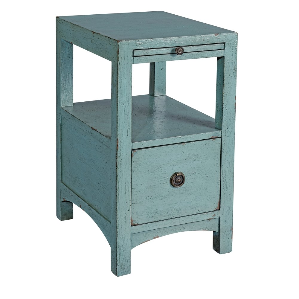 one drawer accent table light blue coast accents navy chair flesner brushed steel lamp with usb port thin console antique claw foot coffee chest for living room mohawk rugs