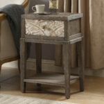 one drawer fir wood accent table coffee sets with storage round bronze small outdoor patio cement and benches target kindle fire living room contemporary marble drum stool 150x150