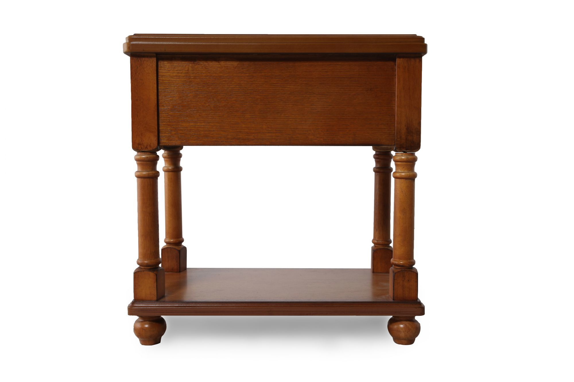 one drawer traditional chairside accent end table rustic brown ash tables with drawers maple small trestle legs dining room centerpieces everyday placemats linens art desk hobby
