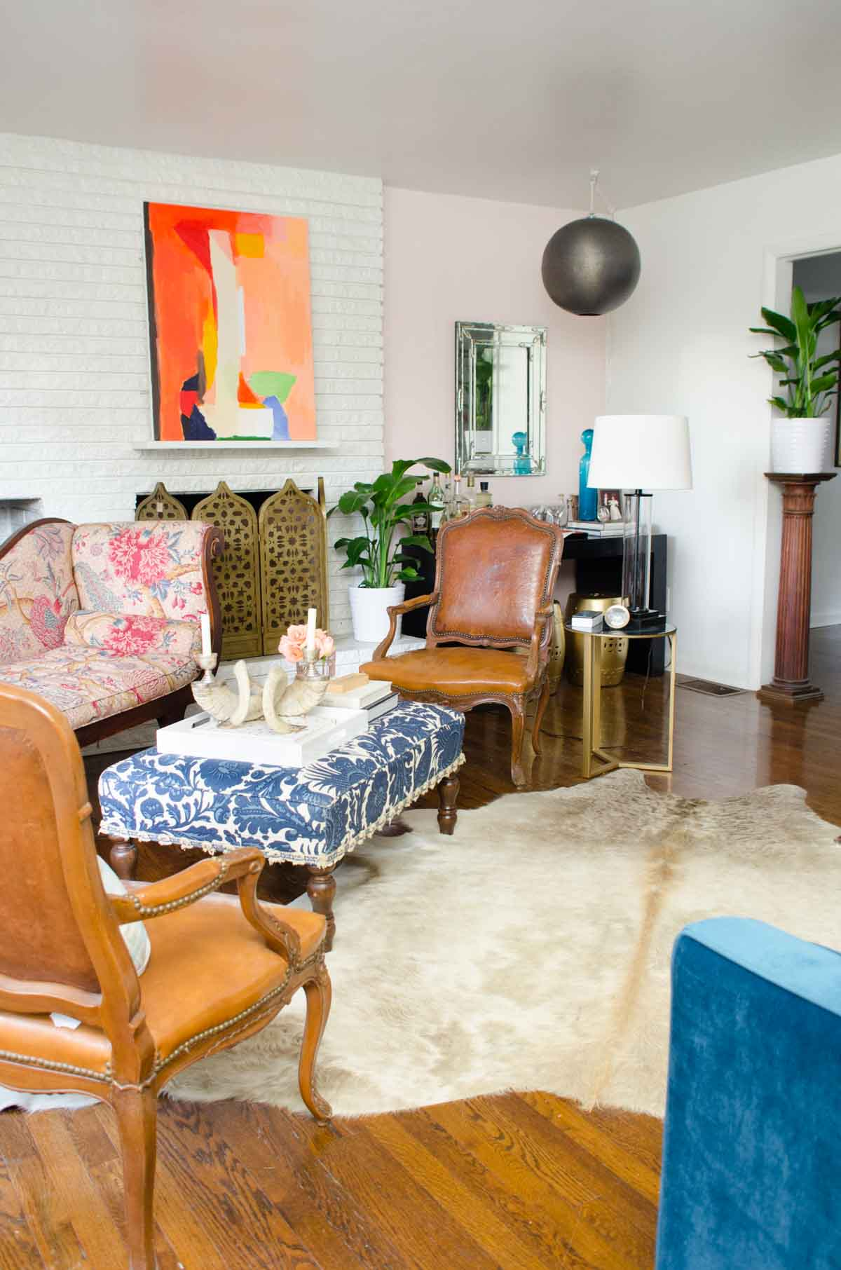 one room challenge living reveal thou swell dsc nate berkus glass agate accent table thouswellblog makeover mixing traditional and modern design elements kitchen decor ideas