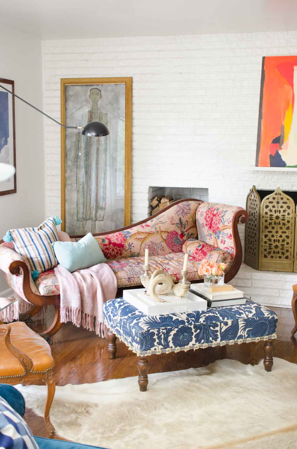 one room challenge living reveal thou swell dsc nate berkus glass agate accent table thouswellblog makeover mixing traditional and modern design elements navy coffee side with