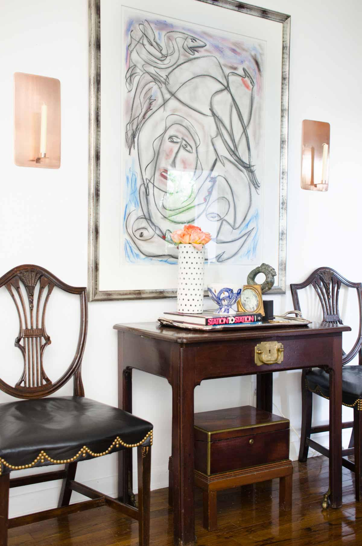 one room challenge living reveal thou swell dsc nate berkus glass agate accent table thouswellblog makeover mixing traditional and modern design elements stackable tables target