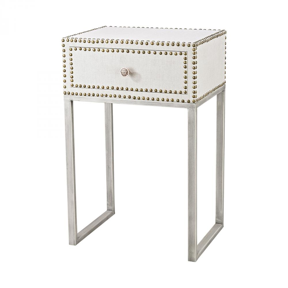 one stop lighting westlake village drawer accent table albiera contemporary marble coffee coral chair narrow console inches deep round metal garden target kindle fire porcelain
