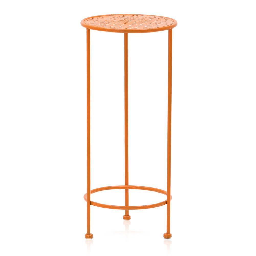 orange metal side table modernica props outdoor ikea dining set teak wood furniture lamp design short sun umbrellas for decks rose gold tables small spaces runner quilt kits