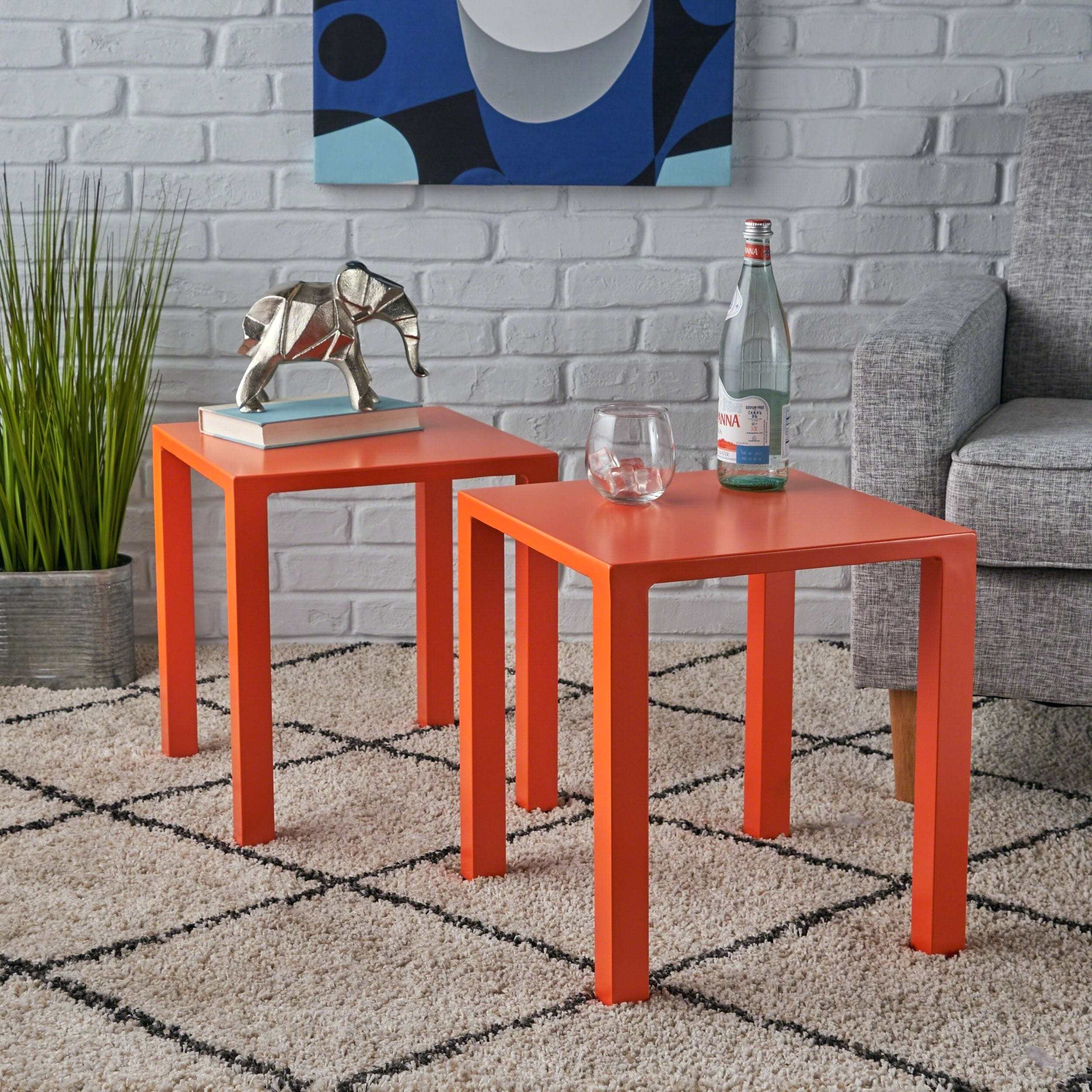 orange side table lack modern inch aluminum set knight outdoor runner quilt kits grey marble dining round glass nest tables black kitchen room essentials shelf bookcase electric