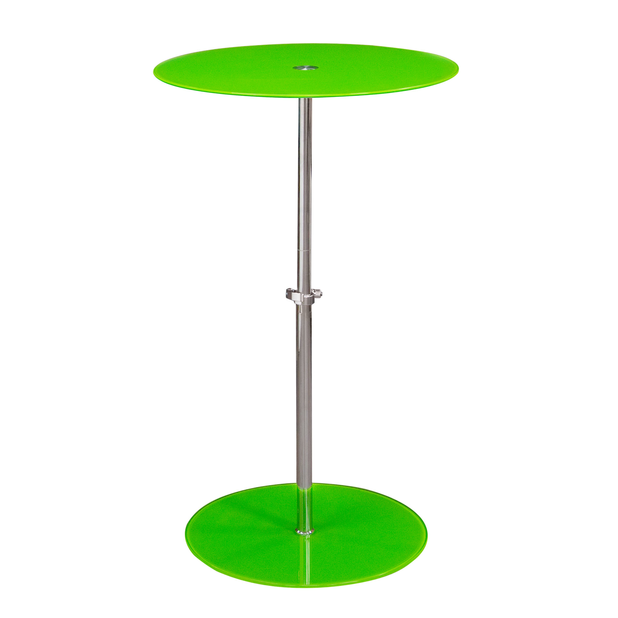 orbit adjustable height glass accent table green big orbitetgn home balcony chairs replacement mini lamp zinc coffee round cherry wood end tables chinese style lamps foot long