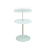 orbit adjustable height glass accent table white big orbitetwh chinese style lamps jofran runner rugs large antique dining room hallway target foot long sofa brass end balcony 150x150