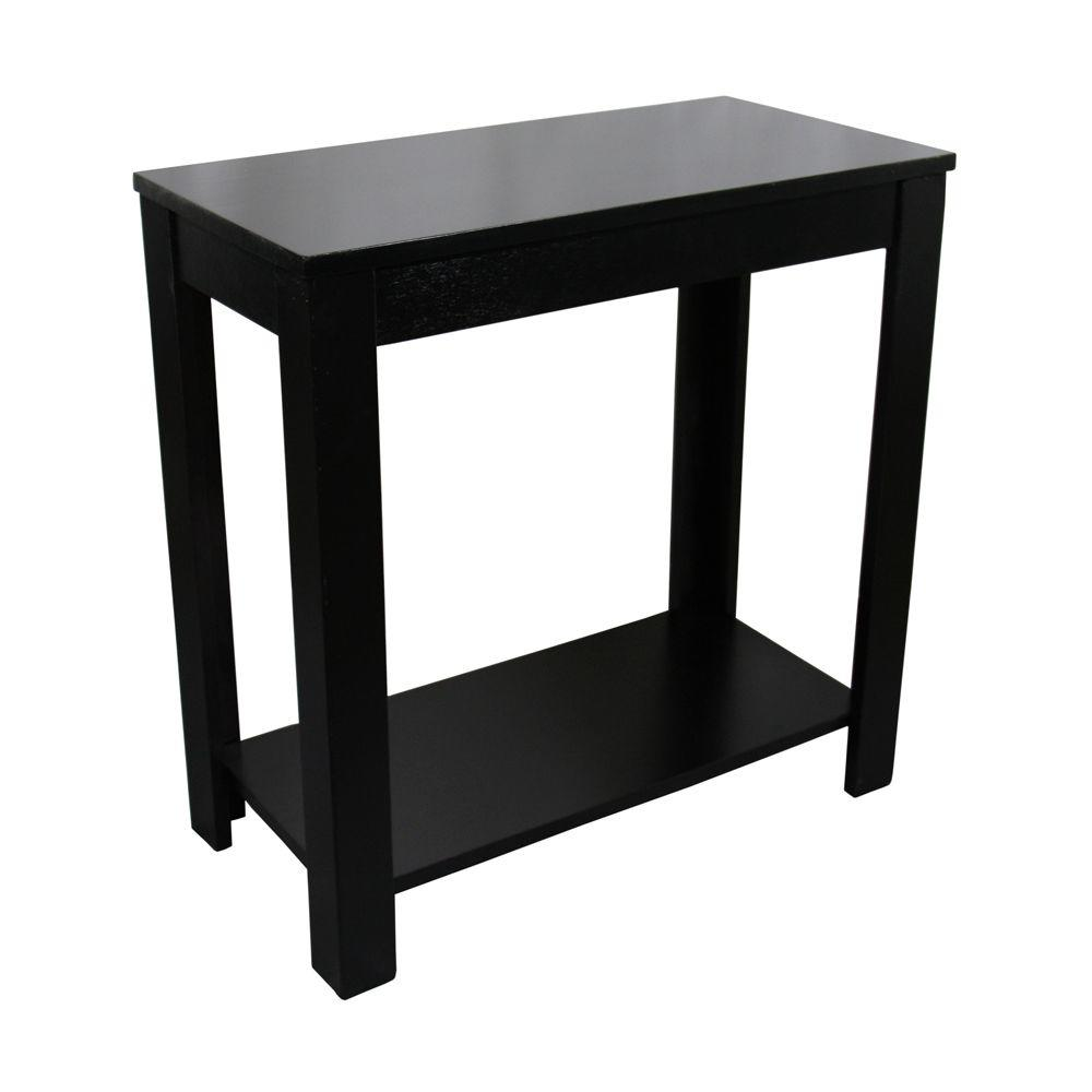 ore international black side table the end tables accent with drawer cream lamp stained glass light metal chair legs ashley furniture drop leaf white round tray grill brush shaker
