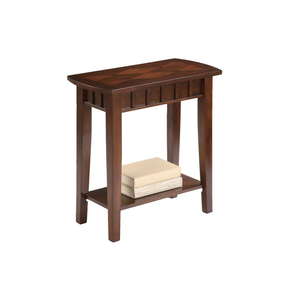 ore international brown end table the tables very narrow accent ikea kids storage ideas furniture for entrance foyer diy small tiffany top lamps distressed wood coffee and square