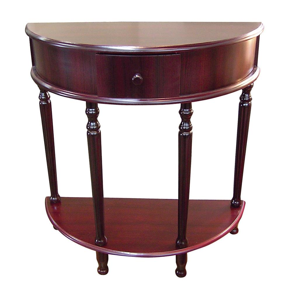 ore international half moon end table commerce acrylic accent small bathroom styles round oak teal metal side gallerie narrow hallway pub and chairs hobby lobby furniture tables