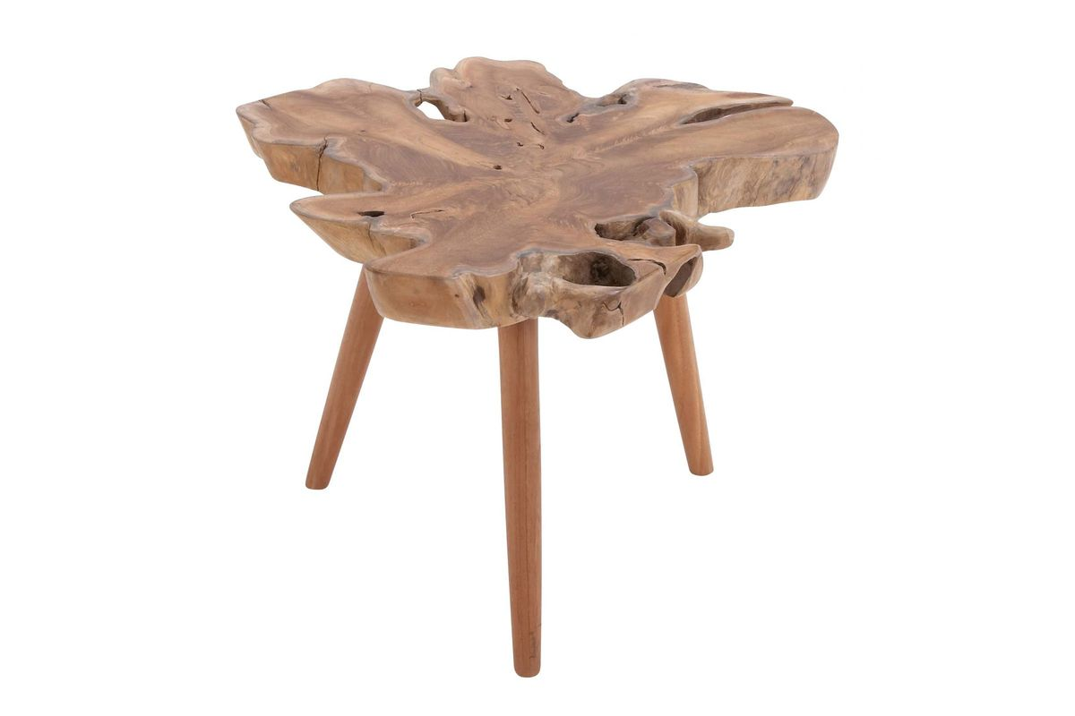 organic inspired teak wood burl accent table gardner white from furniture sauder shoal creek outdoor patio side tables round cloth tablecloths nook dining kmart rug stools corner