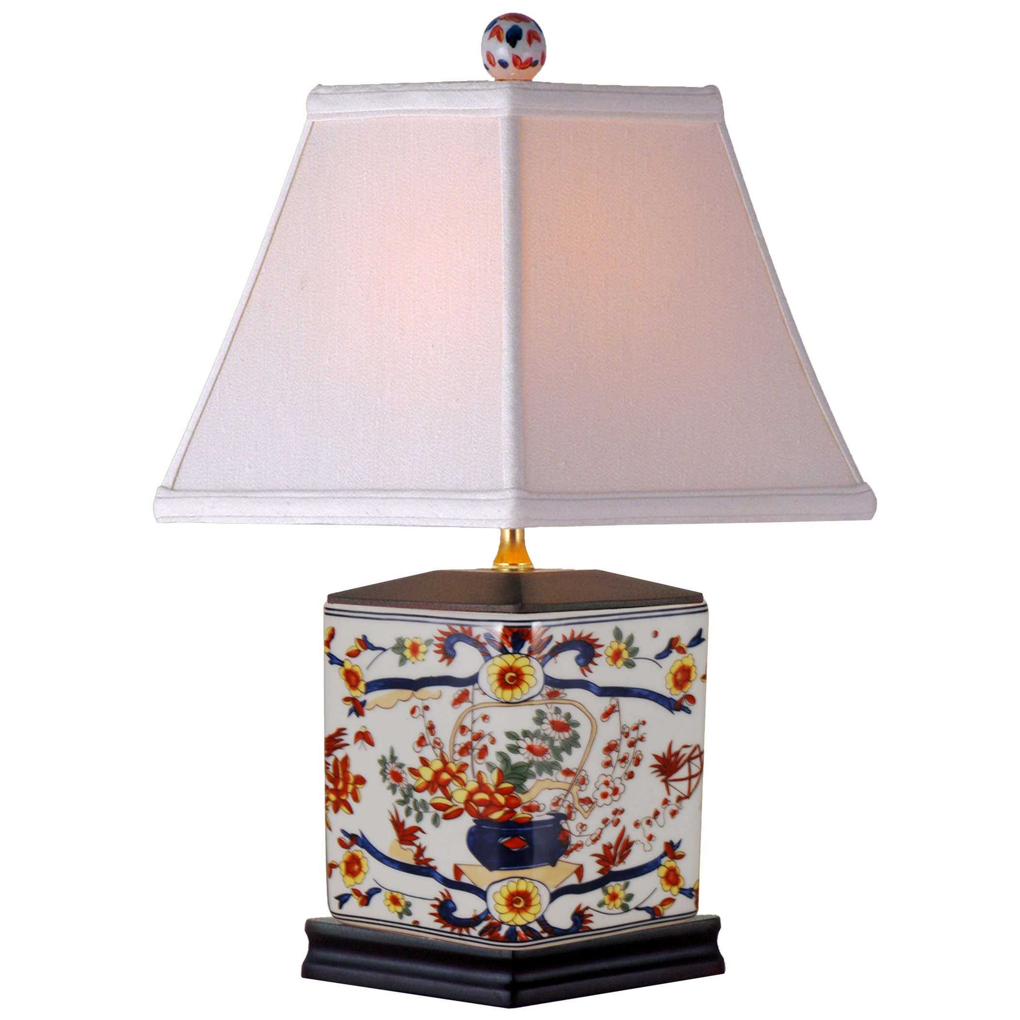 oriental furniture floral pencil table lamp imari accent lamps pottery barn beds oak side with shelf outdoor drum chest cupboard vintage brass coffee base round console storage