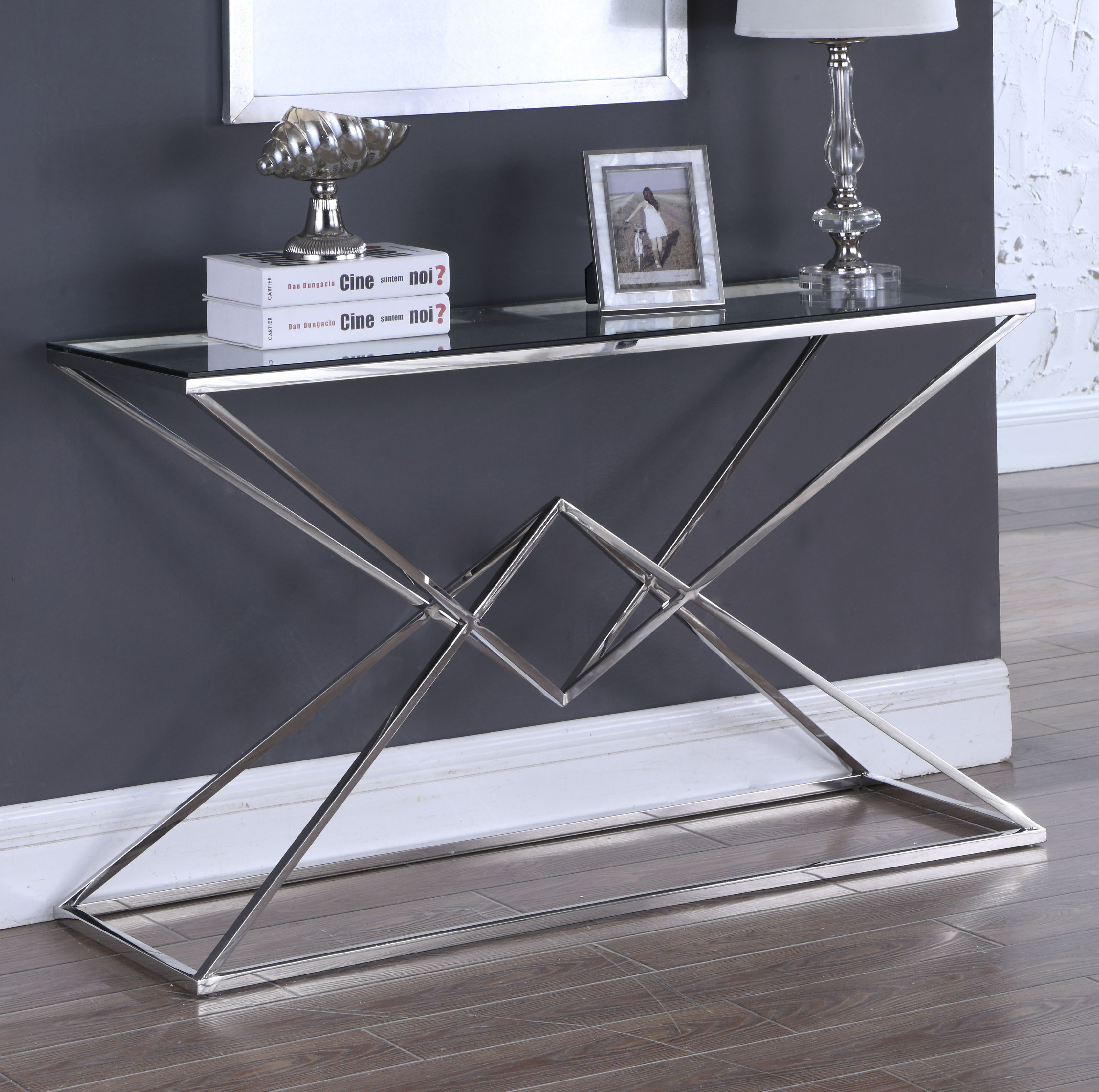 orren ellis jhoana console table hooper accent narrow side with shelves west elm glass lamp pottery barn living room minsmere cane round chair and half coffee art dark grey