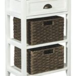 oslember white accent table tables with basket drawers tall narrow hallway target acrylic wooden threshold plates telephone farm trestle base chrome glass ikea pub bistro sets 150x150