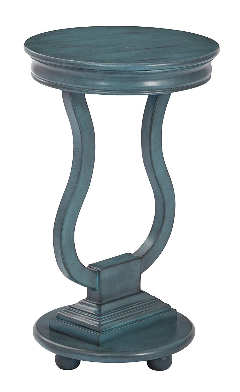osp designs chase round accent table mila square antique finish caribbean blue kitchen dining mosaic tops outdoor pottery barn christmas wood and silver coffee cement living end