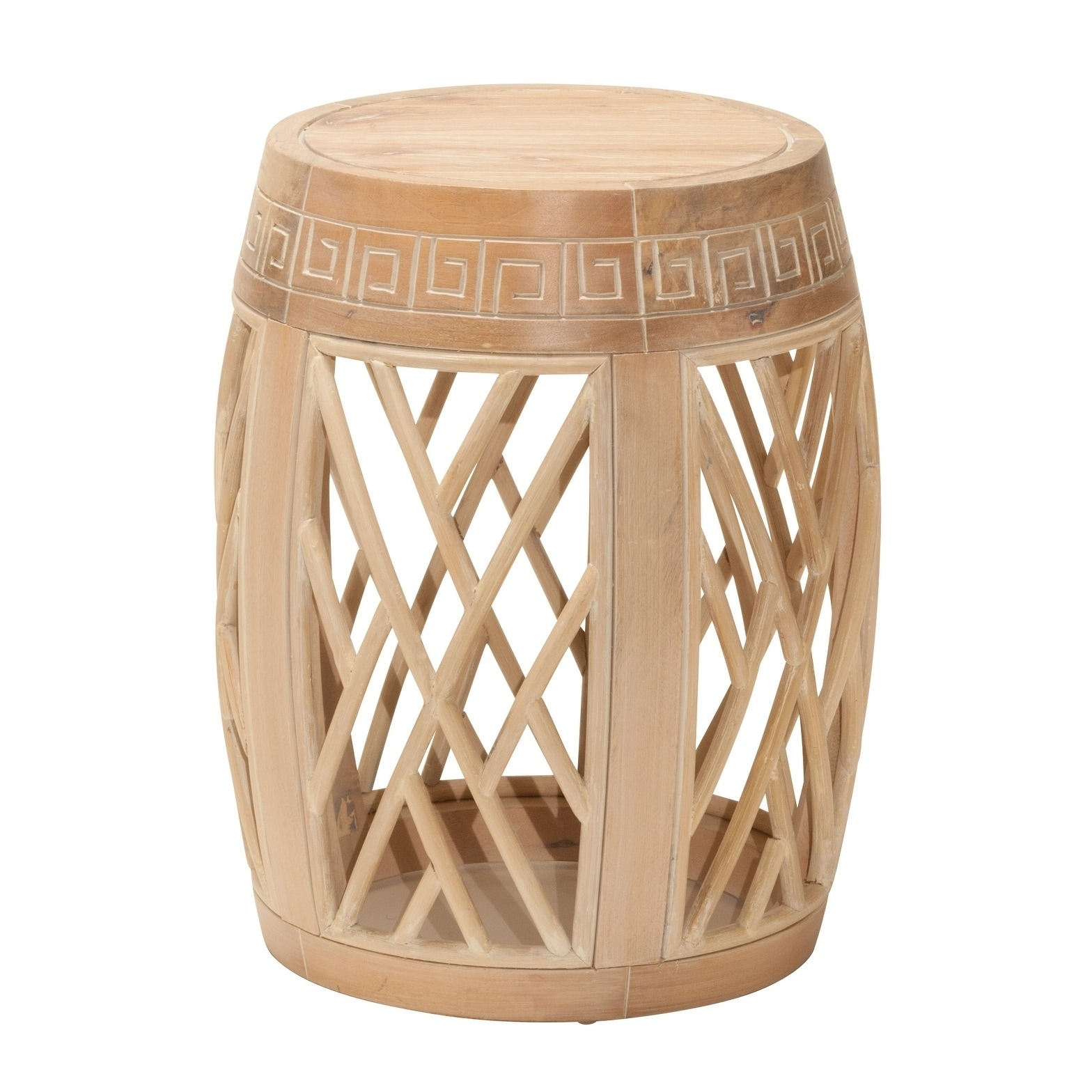 osp designs wood drum accent table antique finish free shipping today modern nightstand lamps oak mats target patio side wooden tray for coffee navy bedside stump frames small