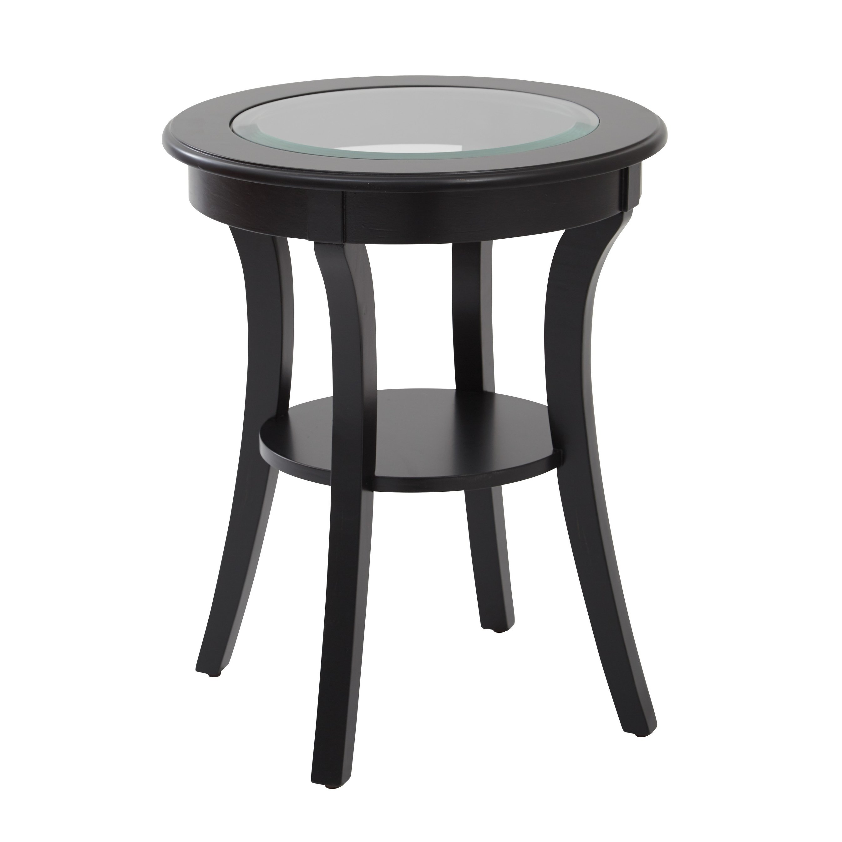 Round Accent Table Glass Top Grottepastenaecollepardo