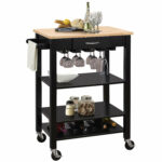 ottawa black kitchen cart accent table and occasional furniture outside cylinder lamp modern blue white porcelain lamps foyer chairs butterfly bedside bar height shades light 150x150
