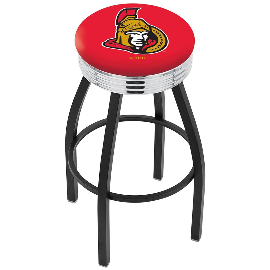 ottawa senators wrinkle swivel bar stool with chrome ribbed thumb aspx accent table ring pottery barn nightstand narrow bedside drawers clock design dresser shades light coupon