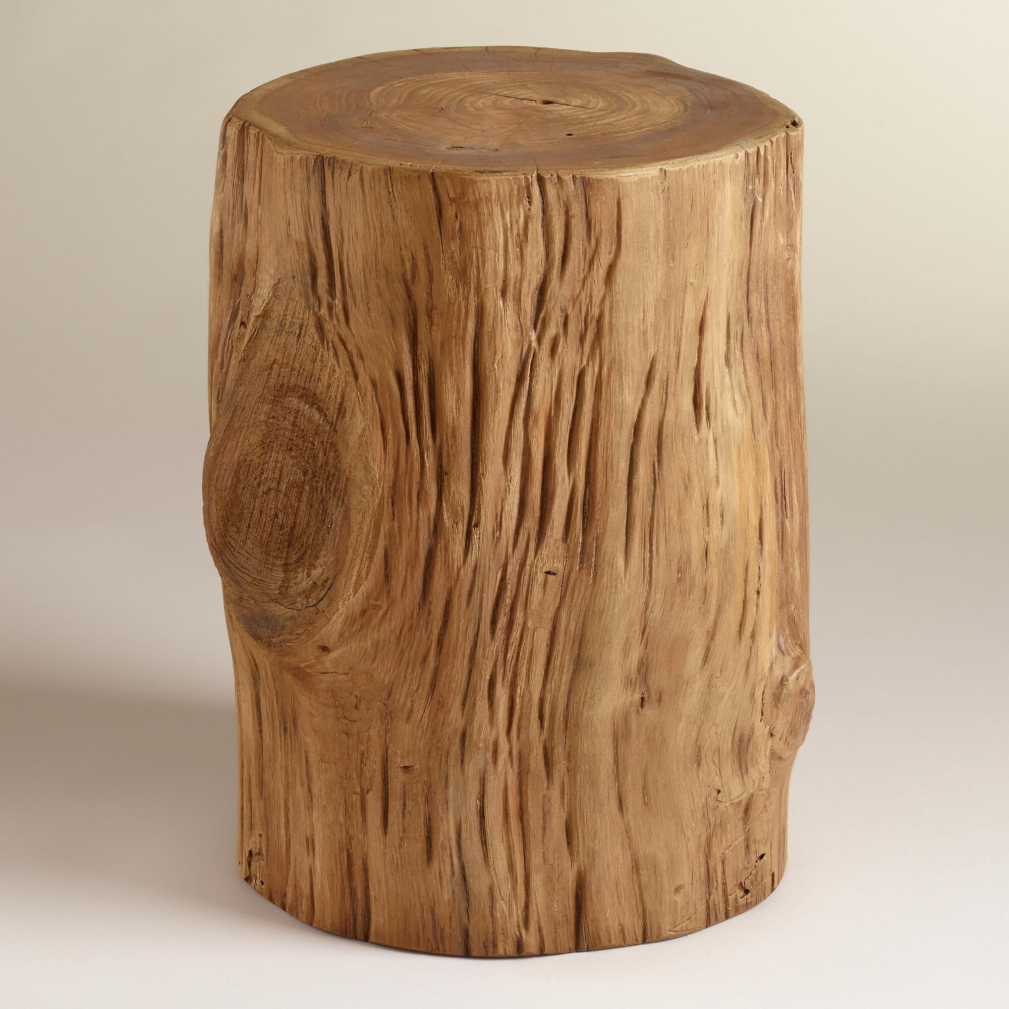 our eye catching teak tree stump table real accent trunk natural finish this wonderfully rustic piece makes exquisitely unique decorative distressed wood side living room cabinets