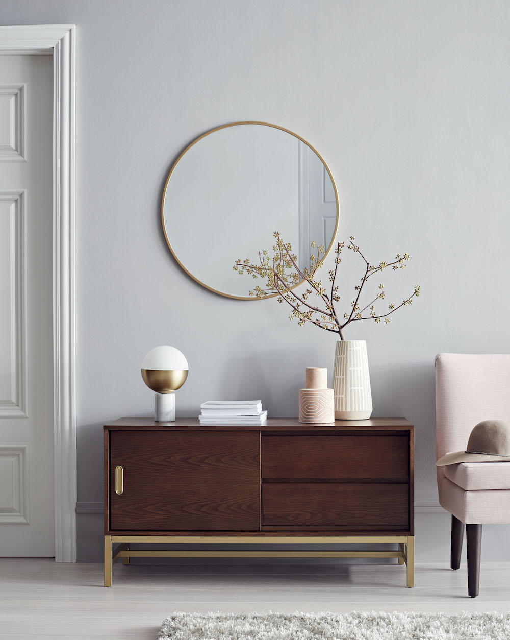our favorite pieces from target new project brand camille crush blush pink marble accent table styles furniture ping shelby chest brass and glass square coffee mahogany end off