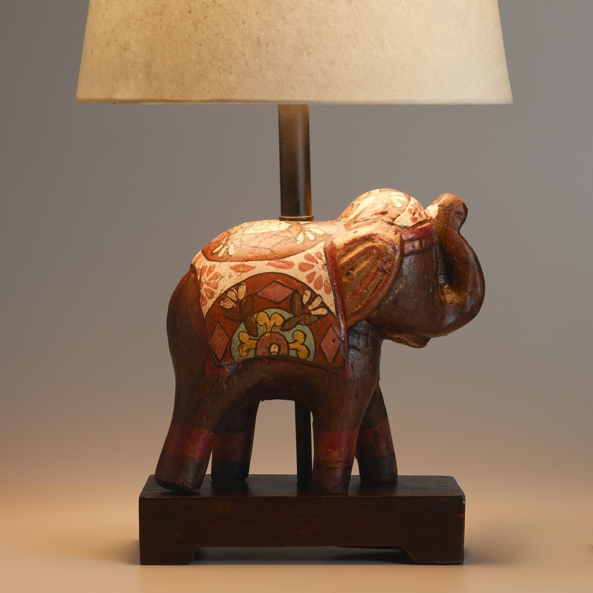 our intricately detailed elephant accent lamp base crafted table terracotta been handpainted and decorated traditional rajasthani circle metal coffee lucite nautical flush mount