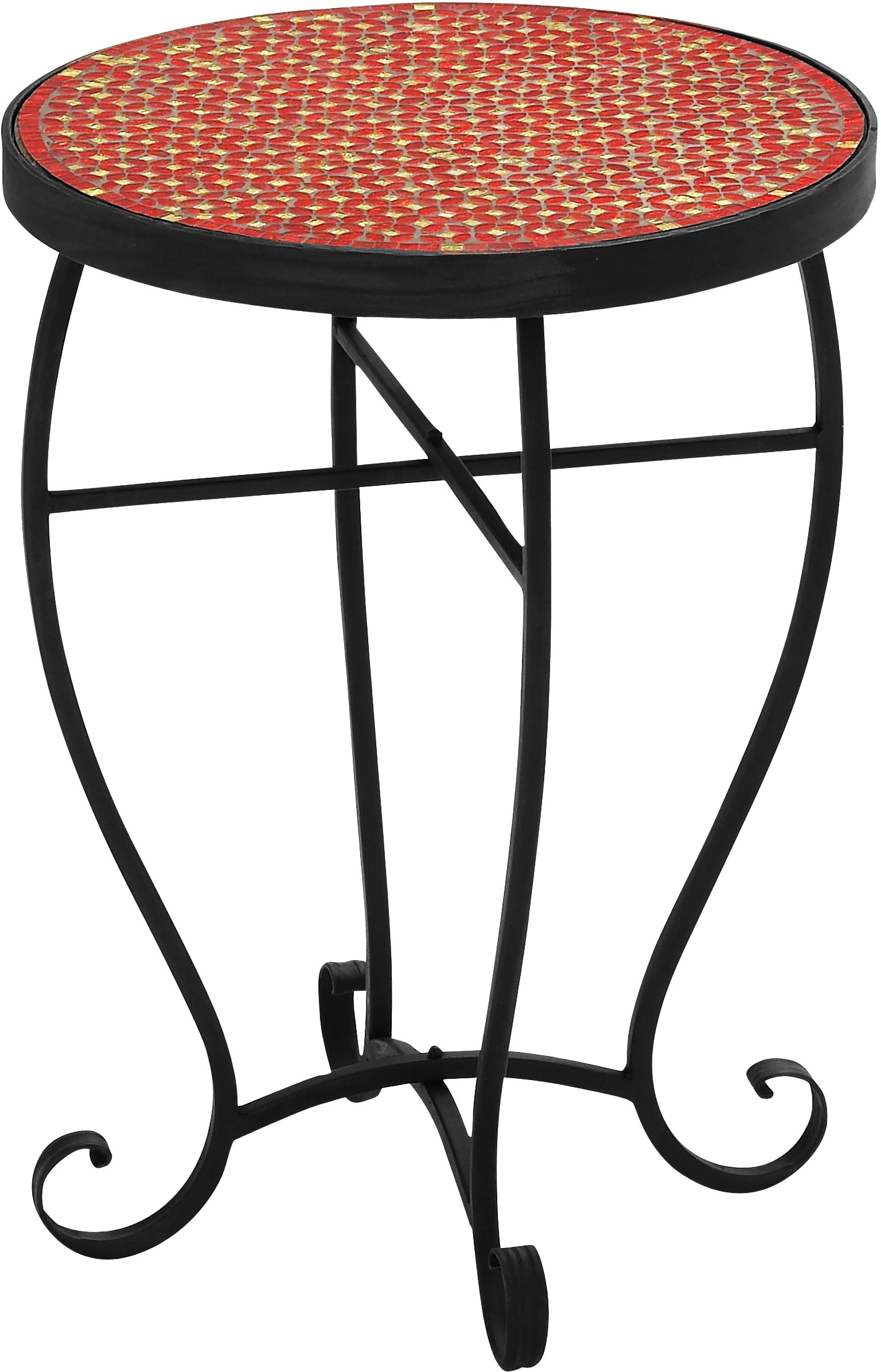outdoor accent table mosaic red round side indoor end chrome patio dark wood trestle dining silver coffee tray hairpin desk large runner mid century replica furniture pottery barn